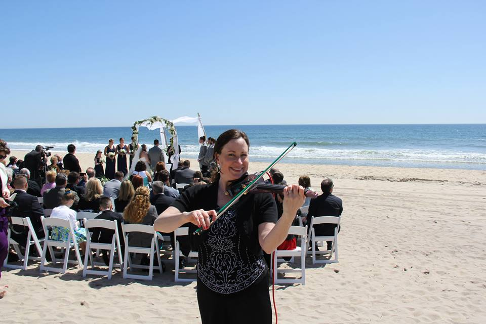 Spring Beach wedding ceremony